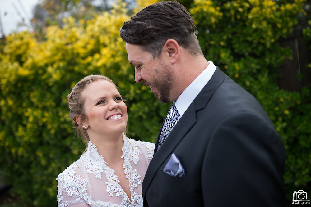 Bride and groom celebrate their intimate backyard wedding with family and friends at their home in Santa Clara, California, on January 2, 2017. (Stan Olszewski/SOSKIphoto)