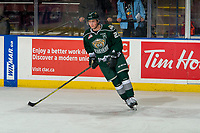 KELOWNA, BC - JANUARY 09:  Jake Christiansen #23 of the Everett Silvertips warms up against the Kelowna Rockets at Prospera Place on January 9, 2019 in Kelowna, Canada. (Photo by Marissa Baecker/Getty Images)