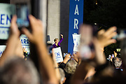 New York, NY – 16 September 2019. Massachusetts Senator and Democratic Presidential candidate Elizabeth Warren drew a large and enthusiastic crowd at a speech for her increasingly popular 2020 presidential campaign in New York's Washington Square. Warren arrived on stage to a large and enthusiastic cheer.