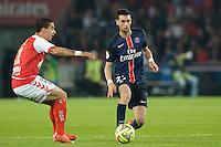 Javier Pastore / Diego Renato Rodrigues  - 23.05.2015 - PSG / Reims - 38eme journee de Ligue 1<br />Photo : Andre Ferreira / Icon Sport