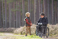Easy accesss paths at Culbin, Aberdeenshire and Moray Forest District, Forestry Commission Scotland