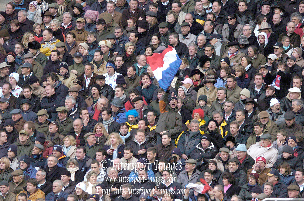 2005 RBS Six Nations, England v France, Twickenham, ENGLAND: French Tricolor.Photo  Peter Spurrier. .email images@intersport-images...