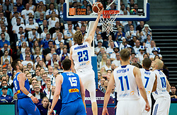 Lauri Markkanen of Finland during basketball match between National Teams of Finland and Iceland at Day 7 of the FIBA EuroBasket 2017 at Hartwall Arena in Helsinki, Finland on September 6, 2017. Photo by Vid Ponikvar / Sportida