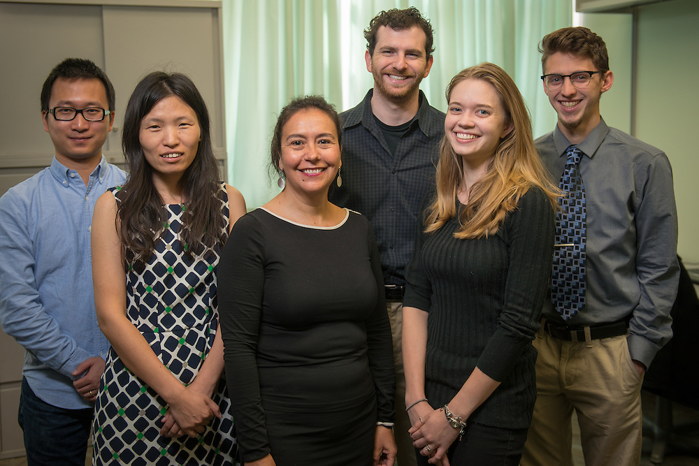 Portrait of Ohio University Department of Psychology staff during the Fall semester of the 2015-2016 academic year. © Ohio University / Photo by Joel Prince