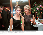 Lady Rose Alexander and her mother Countess Alexander of Tunis. Crillon Hotel debutante `Ball. 27 November 1999. © Copyright Photograph by Dafydd Jones<br />
