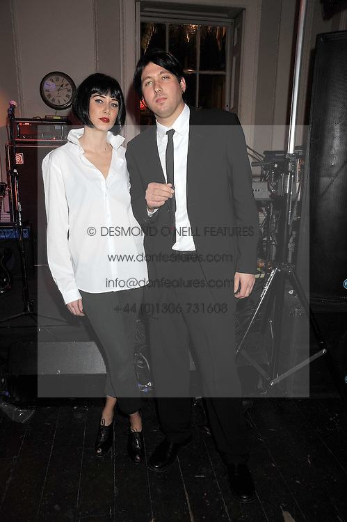 KIMBERLEY STEWART and Dean Geistlinger at a Halloween party hosted by Alexa Chung and Browns Focus held at the House of St.Barnabas, 1 Greek Street, London on 31st October 2008.