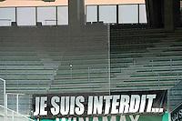 TRIBUNE VIDE / Supporters Nice - 10.05.2015 - Saint Etienne / Nice - 36eme journee de Ligue 1<br /> Photo : Jean Paul Thomas / Icon Sport