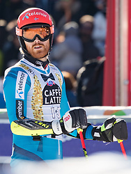 18.12.2016, Grand Risa, La Villa, ITA, FIS Ski Weltcup, Alta Badia, Riesenslalom, Herren, 2. Lauf, im Bild Leif Kristian Haugen (NOR) // Leif Kristian Haugen of Norway reacts after his 2nd run of men's Giant Slalom of FIS ski alpine world cup at the Grand Risa race Course in La Villa, Italy on 2016/12/18. EXPA Pictures © 2016, PhotoCredit: EXPA/ Johann Groder