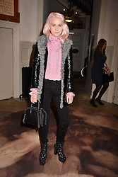 India Rose James at PPQ LFW Autumn Winter 2017 show, Crypt on the Green, Clerkenwell, London England. 17 February 2017.