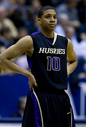 February 11, 2010; Berkeley, CA, USA;  Washington Huskies guard Abdul Gaddy (10) during the first half against the California Golden Bears at the Haas Pavilion.  California defeated Washington 93-81.