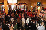 Attendees check in during TEDx Dayton at the Victoria Theatre in downtown Dayton, Friday, November 15, 2013.  TEDx Dayton is a localized version, and uses a format similar to national TED (Technology, Entertainment, Design) events.