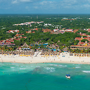 Aerial view of The IBEROSTAR HOTELS. Playa del Carmen. Mexico