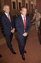 ADELAIDE, AUSTRALIA - Sunday, July 19, 2015: Liverpool's manager Brendan Rodgers and Ian Rush during a visit to the Art Gallery of South Australia ahead of a preseason friendly match against Adelaide United on day seven of the club's preseason tour. (Pic by David Rawcliffe/Propaganda)
