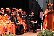 Senior Auhjanae Davis speaks during the Stivers School For The Arts commencement at the Dayton Masonic Center, Saturday, May 19, 2012.