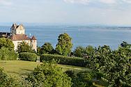 le château de Meersburg petite ville médiévale située au bord du lac de Constance, Bade-Wurtemberg,Allemagne  / Castle Meersburg small medieval town on Lake Constance, Bade-Wurtemberg, Germany