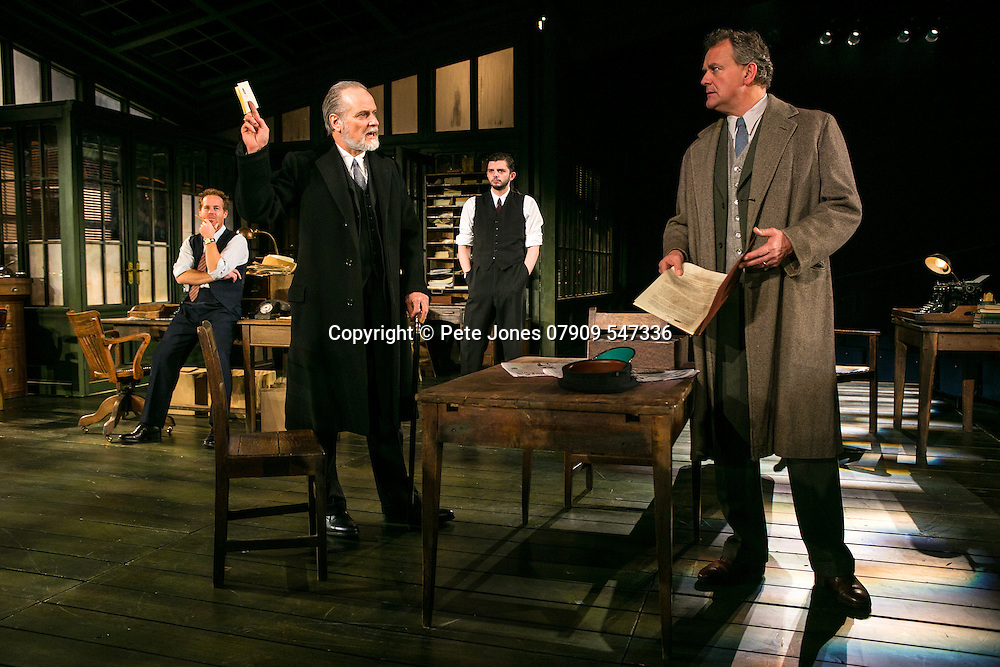 An Enemy of the People by Henrik Ibsen;<br /> Directed by Howard Davies;<br /> Hugh Bonneville as Dr Tomas Stockmann;<br /> Adam James as Hovstad;<br /> William Gaminara as Peter Stockmann;<br /> Michael Fox as Billing;<br /> Chichester Festival Theatre, Chichester, UK;<br /> 29 April 2016