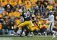 September 17, 2011: Iowa Hawkeyes tight end Brad Herman (39) pulls in a pass during the first half of the game between the Iowa Hawkeyes and the Pittsburgh Panthers at Kinnick Stadium in Iowa City, Iowa on Saturday, September 17, 2011. Iowa defeated Pittsburgh 31-27.
