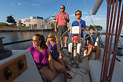 Sailing Manitowoc, Wisconsin.  Photo by Mike Roemer