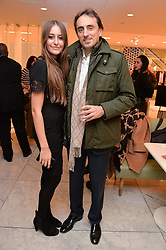 NICOLAS DE SANTIS and his daughter ALAIA DE SANTIS daughter of Melissa Odabash at the Melissa Odabash & Future Dreams Preview to launch their collaborative mastectomy swimwear line in aid of the future dreams Haven appeal held at Fenwick, New Bond Street, London on 10th February 2015.
