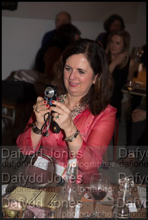 GERALDINE KAY, Matt's Gallery 35th birthday fundraising supper.  42-44 Copperfield Road, London E3 4RR. 12 June 2014.