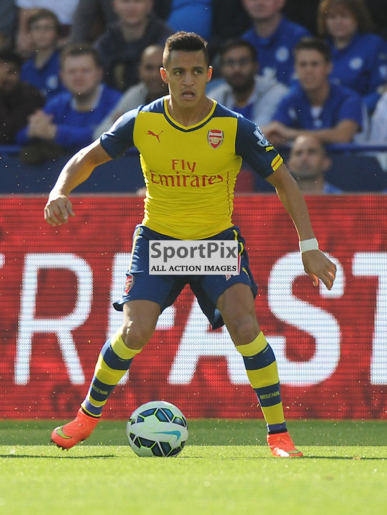 Alexis Sanchez, Arsenal, Leicester City v Arsenal, Premiership, King Power Stadium, Leicester, Sunday 31st  August 2014Leicester City v Arsenal, Premiership, King Power Stadium, Leicester, Sunday 31st  August 2014