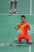 Chen Long, China, Wins Bronze Medal Olympic Badminton London Wembley 2012