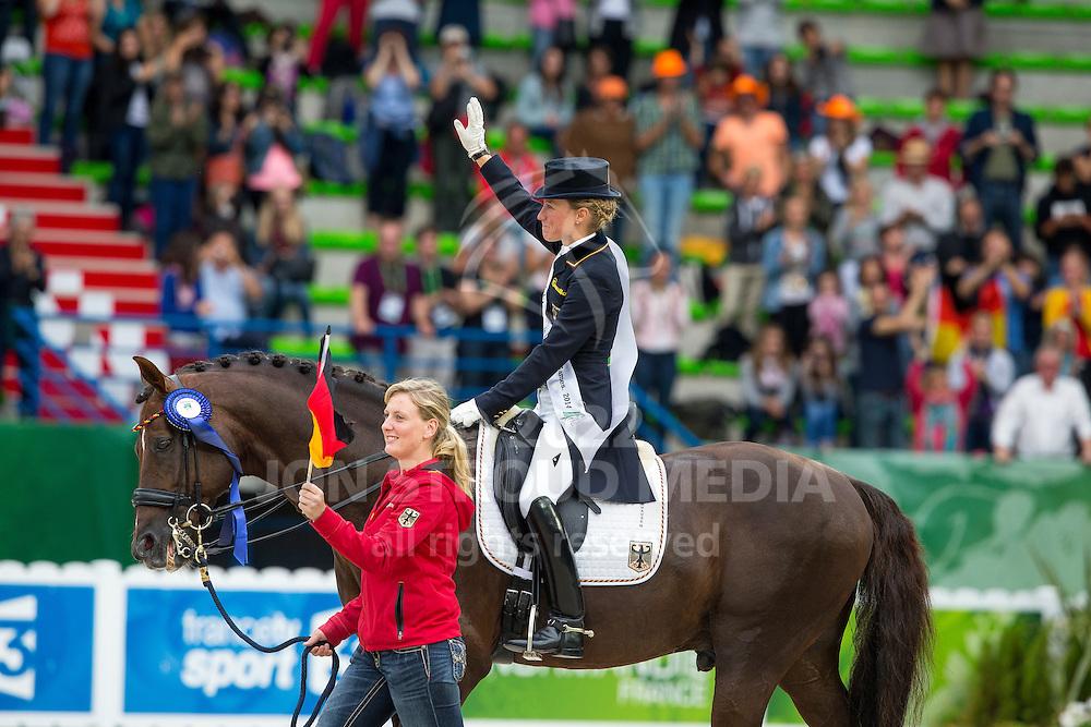 Helen Langehanenberg, (GER), Damon Hill NRW - Grand Prix Special Dressage - Alltech FEI World Equestrian Games&trade; 2014 - Normandy, France.<br /> &copy; Hippo Foto Team - Leanjo de Koster<br /> 25/06/14