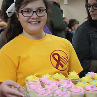 COURTESY<br /> Sadie Randolph, 10, raised money for her late cousin Malaya during her birthday party on February 5th in Belmont. Sadie had princesses and superheroes at the party and sold cupcakes, and raised $2,700 which she will donate to St. Jude Children's Research Hospital in Memphis.