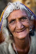 Pilgrim Hindu woman. Pushkar, India.<br />