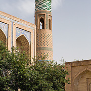 Detail of medrassa, old city, Khiva