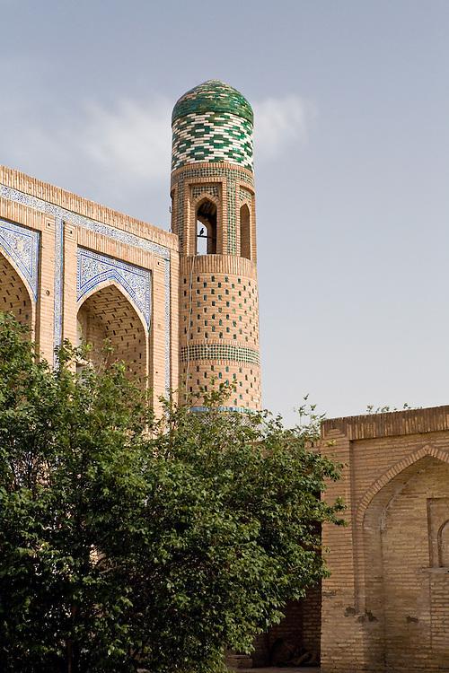 Detail of medrassa, old city, Khiva