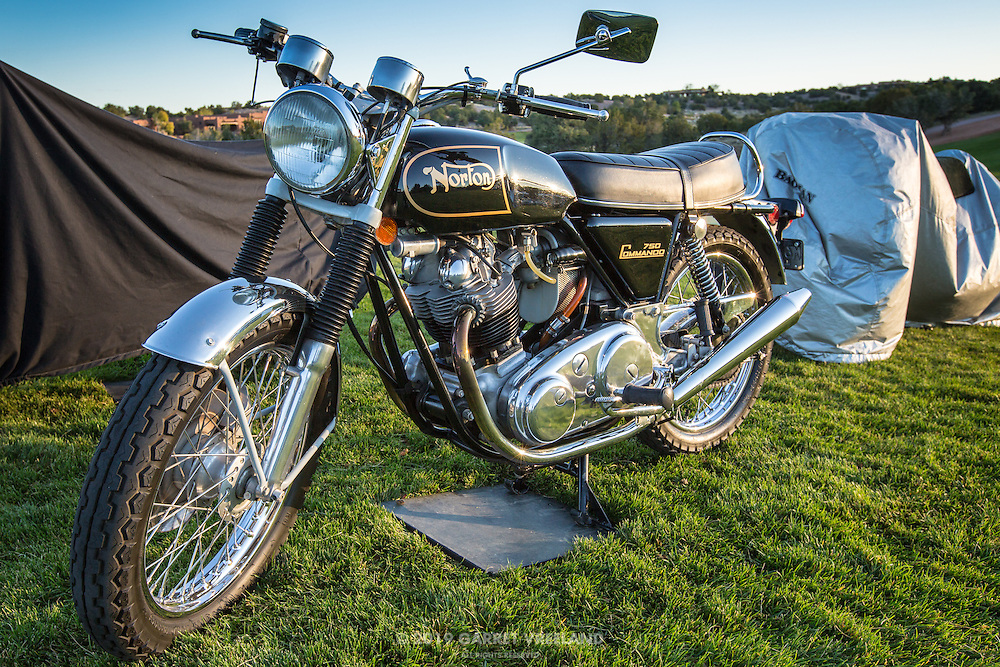 Norton 750 Commando pre-show, in the early morning light, at the 2012 Santa Fe Concorso.