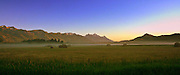 A cold August morning in 2011 after the first cutting of hay<br />