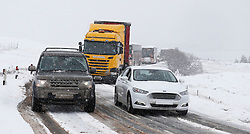 Winter is not finished in the West Highlands as a heavy snow storm sweeps the area. The A82 in Glencoe was hit hard with the road being closed due to the conditions...... (c) Stephen Lawson | Edinburgh Elite media