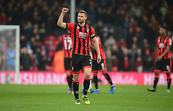 Simon Francis of Bournemouth celebrates at full time. - Mandatory by-line: Alex James/JMP - 11/03/2017 - FOOTBALL - Vitality Stadium - Bournemouth, England - Bournemouth v West Ham United - Premier League