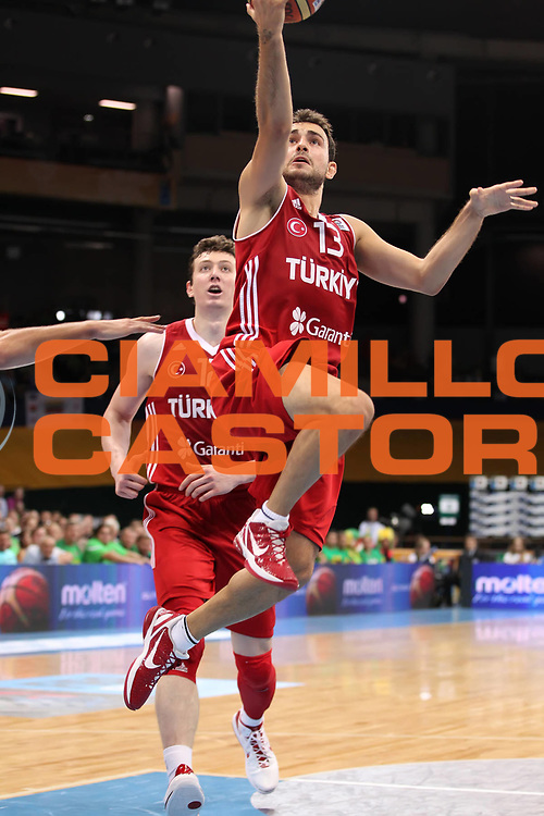 DESCRIZIONE : Panevezys Lithuania Lituania Eurobasket Men 2011 Preliminary Round Spagna Turchia Spain Turkey<br /> GIOCATORE : Ender Arslan <br /> SQUADRA : Turchia Turkey<br /> EVENTO : Eurobasket Men 2011<br /> GARA : Spagna Turchia Spain Turkey<br /> DATA : 05/09/2011 <br /> CATEGORIA : tiro shot<br /> SPORT : Pallacanestro <br /> AUTORE : Agenzia Ciamillo-Castoria/ElioCastoria<br /> Galleria : Eurobasket Men 2011 <br /> Fotonotizia : Panevezys Lithuania Lituania Eurobasket Men 2011 Preliminary Round Spagna Turchia Spain Turkey<br /> Predefinita :