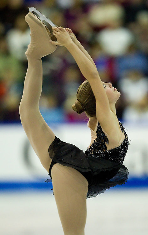GJR410 -20111029- Mississauga, Ontario,Canada-  Ashley Wagner of the United States skates her free skate at Skate Canada International, in Mississauga, Ontario, October 29, 2011.<br /> AFP PHOTO/Geoff Robins