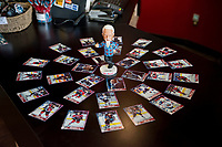 KELOWNA, CANADA - MARCH 10: Don Cherry bobble head on March 10, 2018 at Prospera Place in Kelowna, British Columbia, Canada.  (Photo by Marissa Baecker/Shoot the Breeze)  *** Local Caption ***