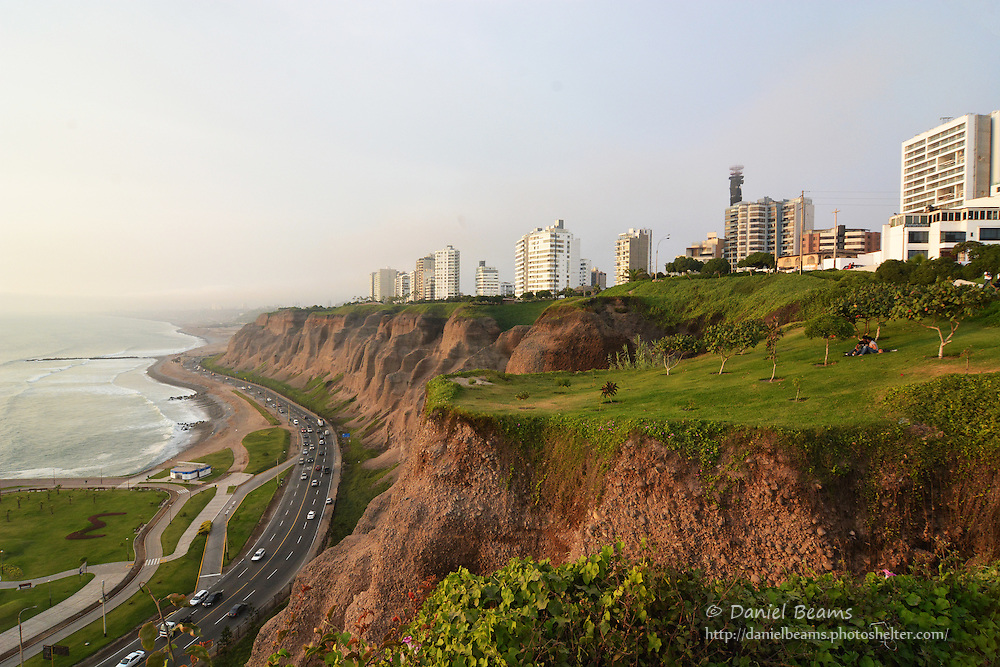 Walking on the Malecon in Mira Flores, Lima, Peru