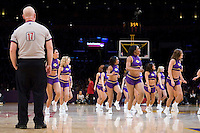 27 March 2007: Referee Joe Crawford watches as The Laker Girls perform during a time out during the game between the Memphis Grizzlies and the Los Angeles Lakers during the Grizzlies 88-86 victory over the Lakers at the STAPLES Center in Los Angeles, CA.
