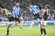 Sheffield Wednesday striker Fernando Forestieri  scores fir Sheffield Wednesday  during the Sky Bet Championship match between Sheffield Wednesday and Brentford at Hillsborough, Sheffield, England on 13 February 2016. Photo by Simon Davies.
