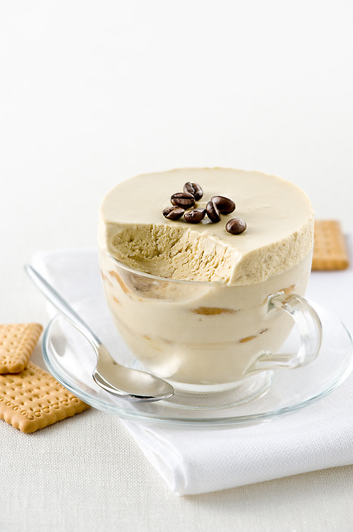 petit beurre in cappuccino icecream