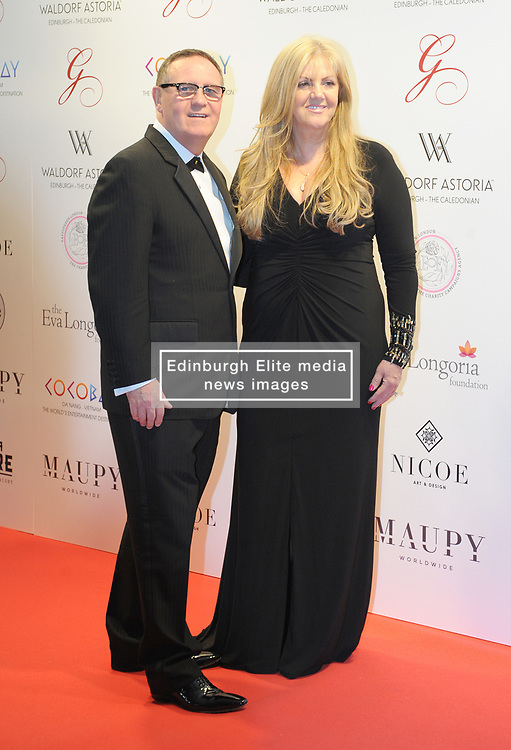The Global Gift Gala Red Carpet, Wednesday 17th May 2017<br /> <br /> Willie Haughey and wife Susan arrive on the red carpet<br /> <br /> The Global Gift Gala is a unique international initiative from the Global Gift Foundation, a charity founded by Maria Bravo that is dedicated to philanthropic events worldwide; to help raise funds and make a difference towards children and women across the globe.<br /> <br /> Charities benefiting from the 2017 Edinburgh Global Gift Gala include the  Eva Longoria Foundation, which aims to improve education and provide entrepreneurial opportunities for young women;  Place2Be which provides emotional and therapeutic services in primary and secondary schools, building children's resilience through talking, creative work and play; and the Global Gift Foundation with the opening of their first 'CASA GLOBAL GIFT', providing medical treatments and therapy for children affected by rare disease.<br /> <br /> (c) Aimee Todd | Edinburgh Elite media