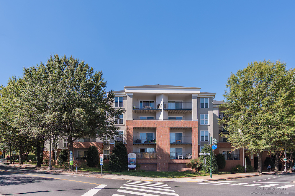 Arlington VA Architectural image of Windsor at Shirlington Village Apartments by Jeffrey Sauers of Commercial Photographics, Architectural Photo Artistry in Washington DC, Virginia to Florida and PA to New England