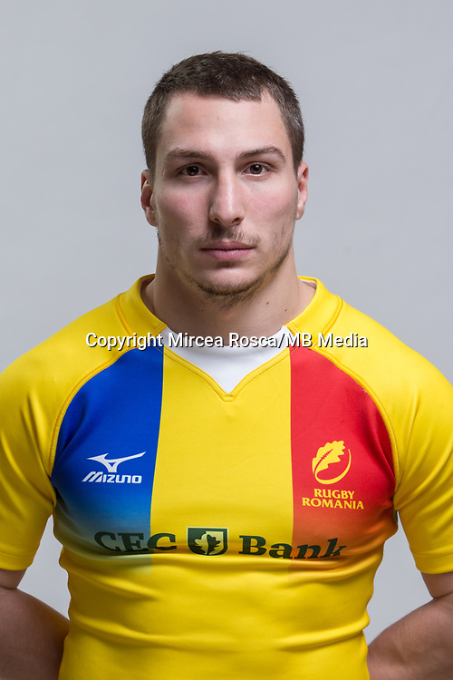 CLUJ-NAPOCA, ROMANIA, FEBRUARY 27: Romania's national rugby player Ionut Dumitru pose for a headshot, on February 27, 2018 in Cluj-Napoca, Romania. (Photo by Mircea Rosca/Getty Images)