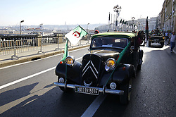 People take part in a parade celebrating the 62th anniversary of the outbreak of the Revolution of November 1954 in central Algiers, Algeria on 1st November 1, 2016. Photo by Billal Bensalem/ABACAPRESS.COM