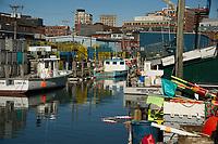 Portland Maine - Old Port waterfront.  ©2017 Karen Bobotas Photographer