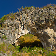 A naturally formed rock arch in Ratchaburi Province, Thailand