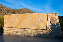 National Park Service welcome sign, Carlsbad Caverns National Park, New Mexico, United States of America