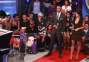 Terrence J and Rocsi appear during BET's '106 & Park' 10 year anniversary celebration at BET Studios on October 6, 2010 in New York City.